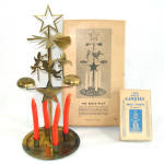 1940s Bells Play Swedish Brass Christmas Angel Candle Chimes