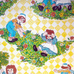 Click to view larger image of Raggedy Ann and Andy Vintage 9 Foot Roll Contact Paper Wallcovering (Image3)