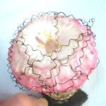 Click to view larger image of Victorian Clip Wire Wrapped Trumpet Flower Christmas Ornament (Image3)