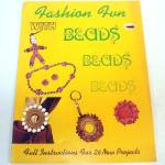 Click here to enlarge image and see more about item 10652: Fashion Fun With Beads 1972 Jewelry Craft Pattern Booklet
