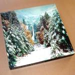 Click here to enlarge image and see more about item 10708: Winter In The Mountains 1979 Springbok Jigsaw Puzzle Yosemite