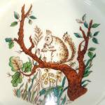 Click to view larger image of Tiffany and Co. England Childs Squirrel Feeding Bowl Dish (Image2)