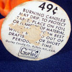 Click to view larger image of Gurley Orange Halloween Ghost Figural Candle (Image2)