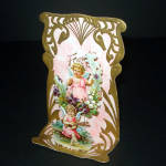 Click here to enlarge image and see more about item 10833-2: Forever Thine Cupids Victorian Stand Up Valentine