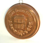 Round Copper Home Sweet Home Shortbread Mold