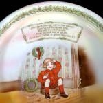 Click to view larger image of Royal Bayreuth Jack Horner Nursery Rhyme Baby Child Feeding Dish (Image2)