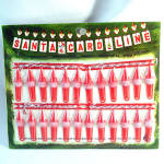 Bradford 1960s Santa Card Line Hanging Christmas Cards Display Mint