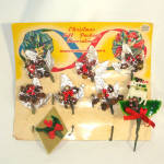 Click to view larger image of 1940s Christmas Package Mercury Beads Corsage Trims on Card (Image6)