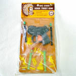 Click here to enlarge image and see more about item 14434: 1950s Big Chief Indian Target Game Dart Gun Toy Offensive