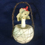 Click to view larger image of Poinsettia Victorian Wire Wrapped Glass Christmas Ornament (Image2)