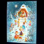 1940s Angel Nativity Christmas Advent Calendar Unused