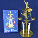Click here to enlarge image and see more about item 11070-4: Box Swedish Brass Christmas Angel and Party Candle Chimes