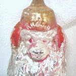 Click to view larger image of Radio Monkey Antique German Glass Christmas Ornament (Image6)