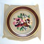 Click to view larger image of Pansies Boxed Round Framed Needlepoint Kit (Image3)