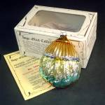 Click here to enlarge image and see more about item 11182: Inge Harvest Blessings 1983 Glass Christmas Ornament Mint in Box