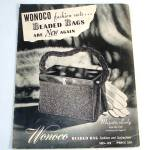 Click here to enlarge image and see more about item 11187: 1947 Wonoco Beaded Bags Purses Instruction Pattern Booklet