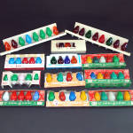 Click here to enlarge image and see more about item 11200-2: Lot 63 Vintage GE Westinghouse C-7 Christmas Light Bulbs Tested