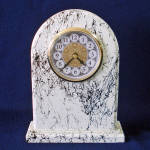 Click here to enlarge image and see more about item 11203-2: Tombstone Mount 1970s Mantle or Table Clock
