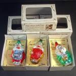Click to view larger image of 3 Musical Clowns Inge Glass Christmas Ornament Set Mint in Boxes (Image1)
