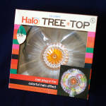 Click here to enlarge image and see more about item 11246-4: Doubl Glo Fiber Optic Lighted Halo Christmas Tree Topper In Box