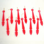 Click here to enlarge image and see more about item 11291: 15 Red Plastic Prisms Christmas Icicle Ornaments