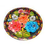 Click here to enlarge image and see more about item 11314: Colorful Hand Painted Mexican Floral Batea Bowl
