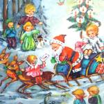 Click to view larger image of Santa With Children Western Germany Christmas Advent Calendar (Image2)