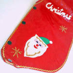 Click to view larger image of 1960s Japan Felt Merry Christmas Santa Vest Mint in Package (Image4)