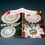 Click here to enlarge image and see more about item 11366: American Thread Crochet Flower Doilies Pattern Booklet