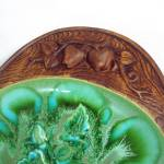 Click to view larger image of 1960s Treasure Craft Green Blue Pottery Oval Serving Platter 17.5 Inches (Image4)