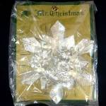 Click here to enlarge image and see more about item 11385: Mr Christmas Silver Foil Glass Corsage or Ornament Mint in Package