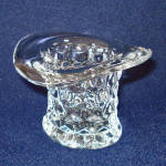 Click here to enlarge image and see more about item 11422-2: Fostoria American Top Hat Toothpick Holder or Vase