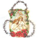 Click to view larger image of Angels and Nativity Die Cut Scrap Tinsel Christmas Ornaments (Image2)