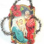Click to view larger image of Angels and Nativity Die Cut Scrap Tinsel Christmas Ornaments (Image3)