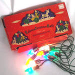 Reliance 1940s Boxed C6 Christmas Light String