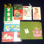 Click here to enlarge image and see more about item 11479: Assorted Angel Themed Unused 1960s Christmas Gift Tags