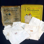 Click here to enlarge image and see more about item 11505: 1922 Box 5 Unused Sealpax Girls Undersuits Union Suits Size 4