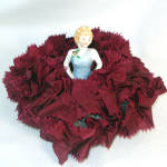 Porcelain Bisque Half Doll Pincushion
