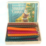 Click here to enlarge image and see more about item 11583: Box Antique Starlight Spiral Wax Christmas Tree Candles