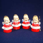 Click to view larger image of Ardalt Porcelain Angel Bell Christmas Ornaments International Greetings (Image6)