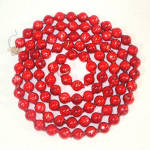 Click here to enlarge image and see more about item 11650: Large Bead Red Mercury Glass Christmas Garland