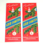 Click here to enlarge image and see more about item 11658: 2 Unused Packs German Gold Lametta Christmas Tinsel