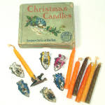 Box German Arrowhead Christmas Tree Candle Holder Clips With Candles