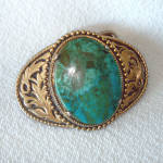 Click here to enlarge image and see more about item 11715-4: Southwestern Style Turquoise Belt Buckle