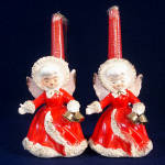 Click here to enlarge image and see more about item 11741: Relco Spaghetti Angels Christmas Candle Holder Figurines
