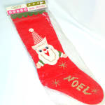 1960s Felt Santa Claus Christmas Stocking Mint in Package