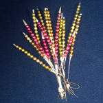 Christmas Mercury Glass Bead Spikes Sprays
