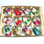 Click to view larger image of Box Shiny Brite Striped Small Bells Christmas Ornaments (Image2)