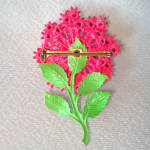 Click to view larger image of Rhinestone and Enamel Pink Dimensional Flower Pin Brooch (Image2)
