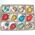 Box Small Shapes Shiny Brite 1940s Glass Christmas Ornaments